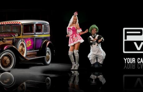 Wonka Car Advertising