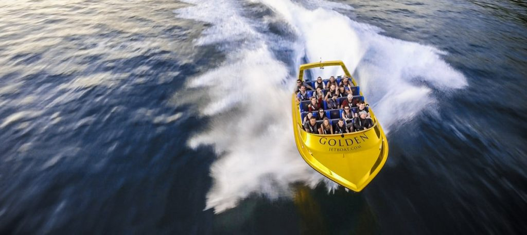 Commercial Photo and Video for GOLD Jet Boat