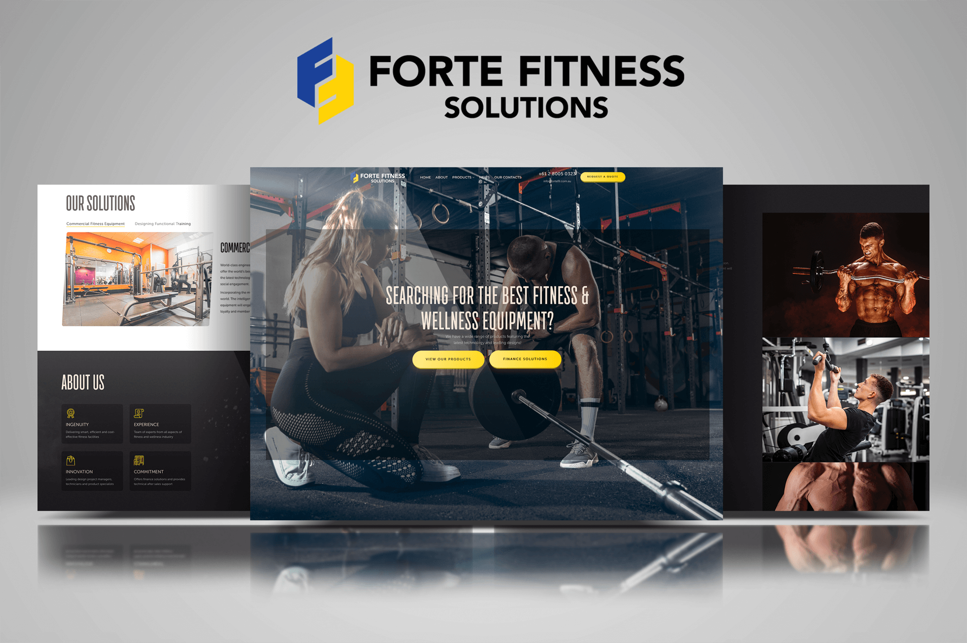 Forte Fitness Web design