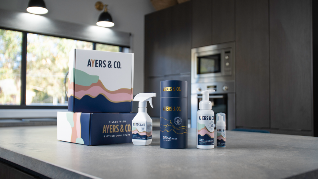 Product photography for Ayers & Co