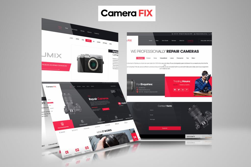 Website Design for Camera FIX