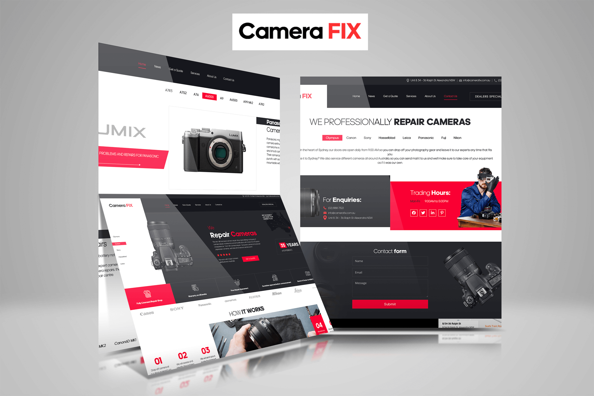 Website Design for Camera FIX